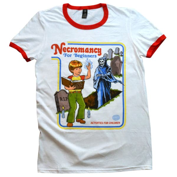 'Necromancy for Beginners' Ringer Shirt