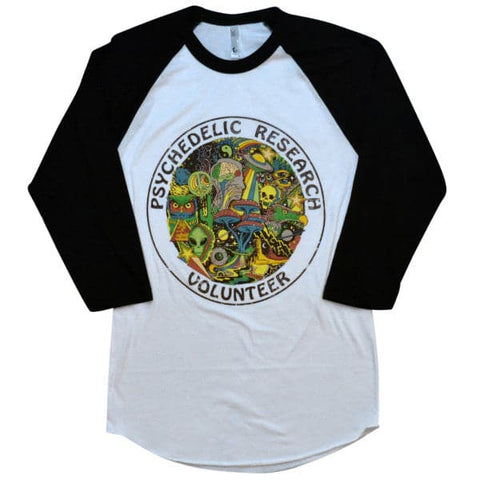 'Psychedelic Research Volunteer' Baseball Shirt