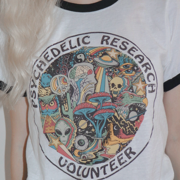 'Psychedelic Research Volunteer' Ringer Shirt