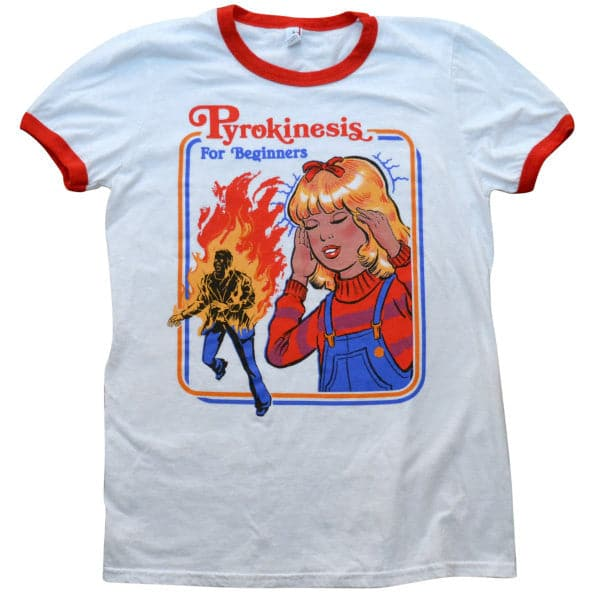 'Pyrokinesis for Beginners' Ringer Shirt