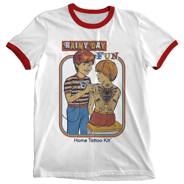 'Home Tattoo Kit' Ringer Shirt