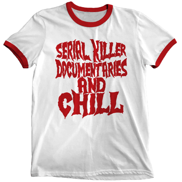 'Serial Killer Documentaries' Ringer Shirt