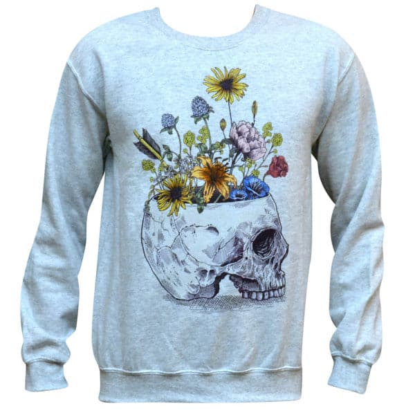 'Skull With Flowers' Sweater