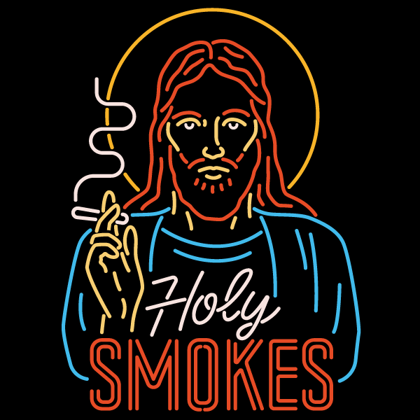 'Holy Smokes' Gold Foil Shirt