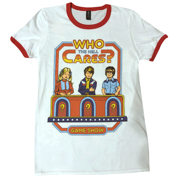 'Who Cares?' Ringer Shirt