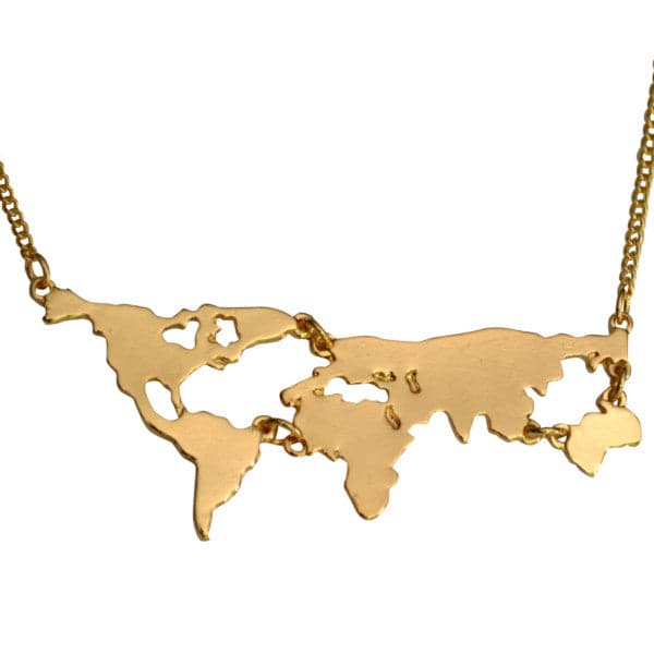 World Map Atlas Necklace