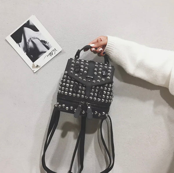 Star Studded Backpack- BLACK