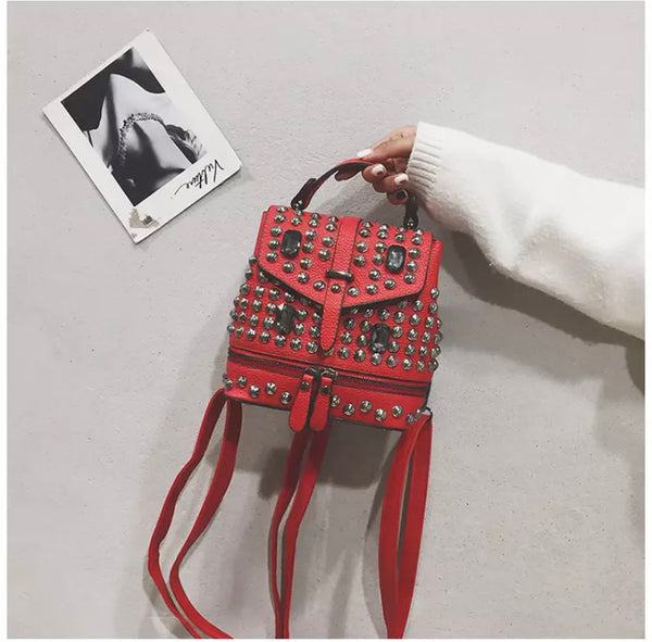 Star Studded backpack- RED