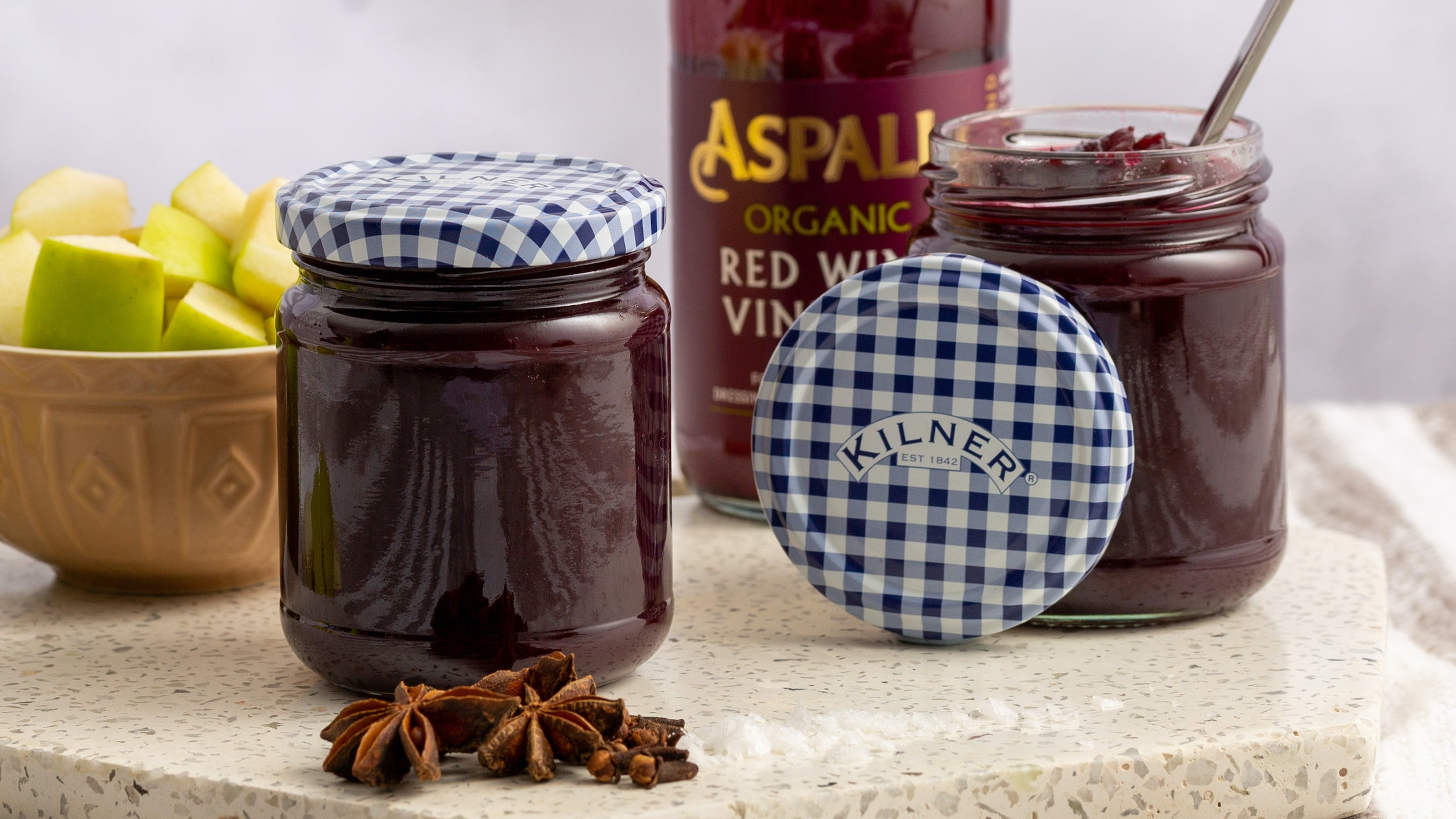 Apple and blackberry butter