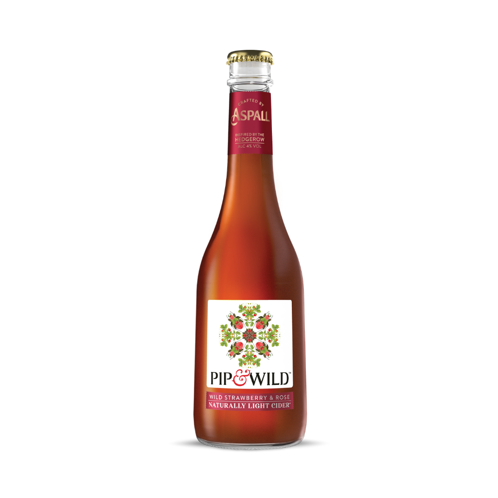 Pip & Wild Strawberry and Rose Cider