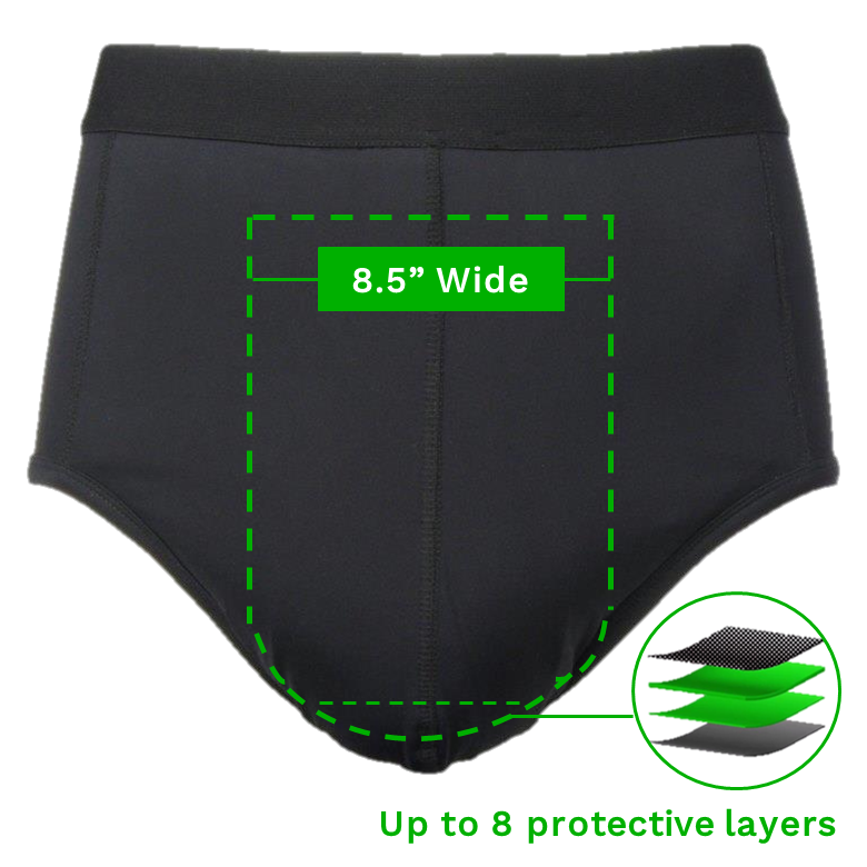 "Zorbies Incontinence ZorbWear Brief - 8.5"" Wide Front Protective Panel"