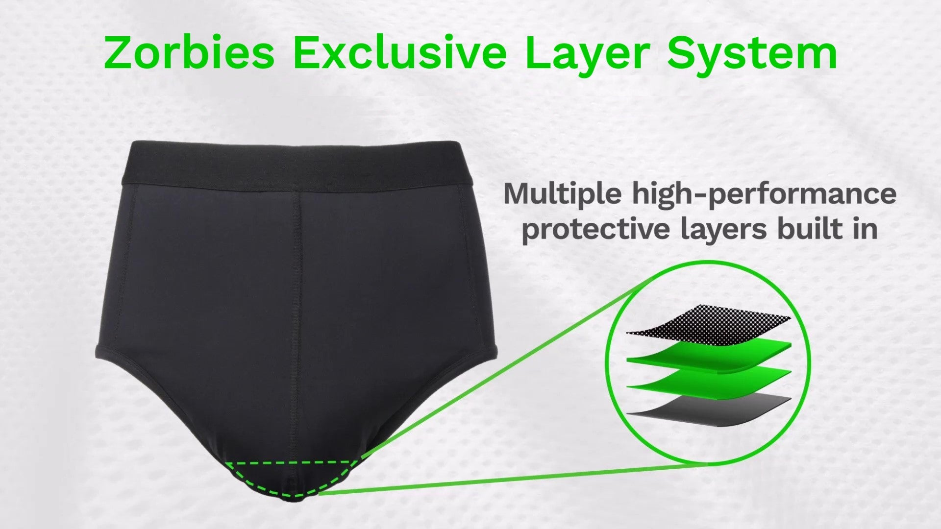 zorbies exclusive incontinence protection system layers