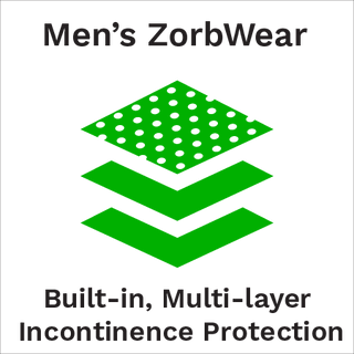 zorbies men's ZorbWear incontinence underwear product line logo
