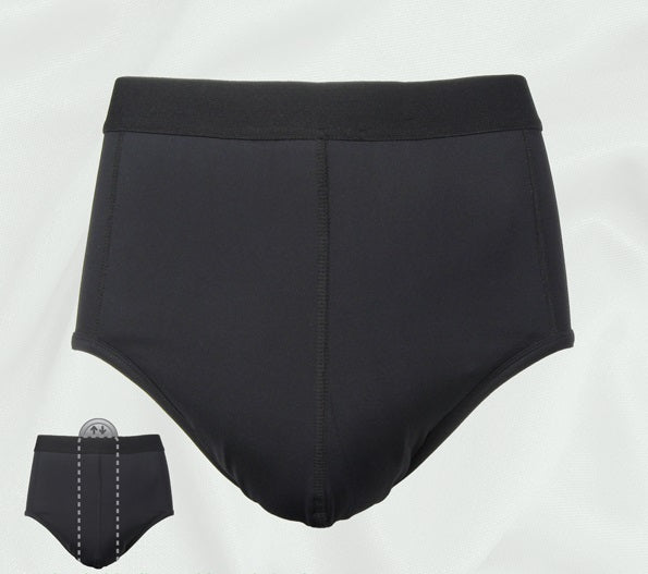 Zorbies washable Pocket Incontinence Brief with the pocket that holds a disposable pad outlined.
