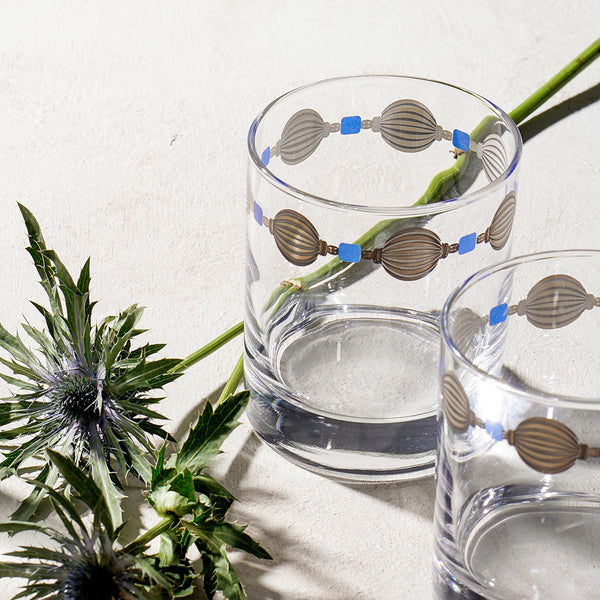 artistic design on water glass, buy designed glass set