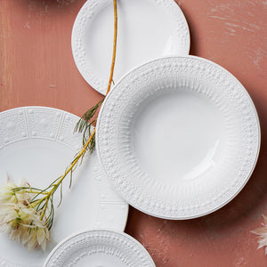 Pure Porcelain Plate Set, Dinner Plate, Main Plate, Side Plate, B/B Plate, Soup Plate, Traditional Design