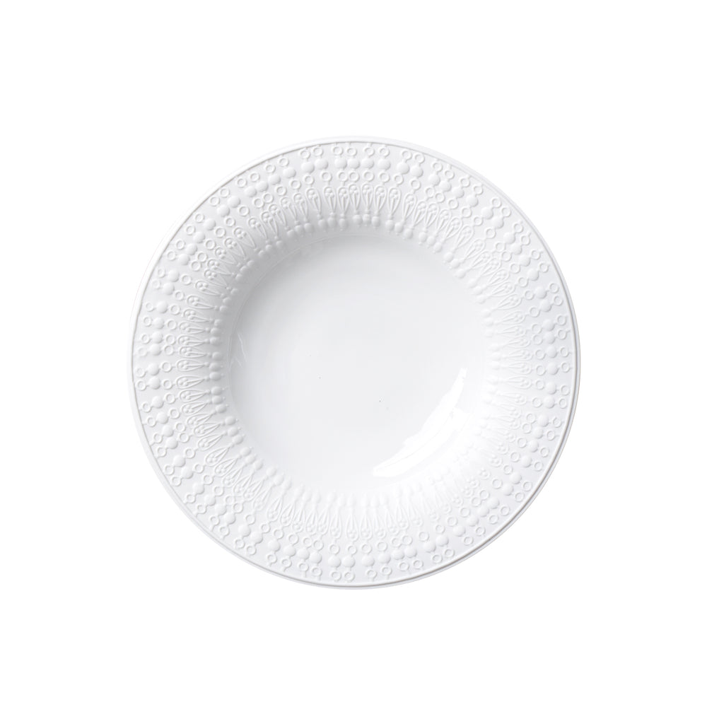 Porcelain white soup plate