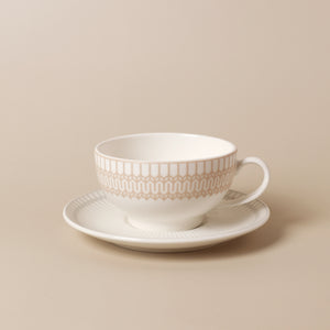 Chevron Coffee/Tea Cup & Saucer Set - 8 Pcs