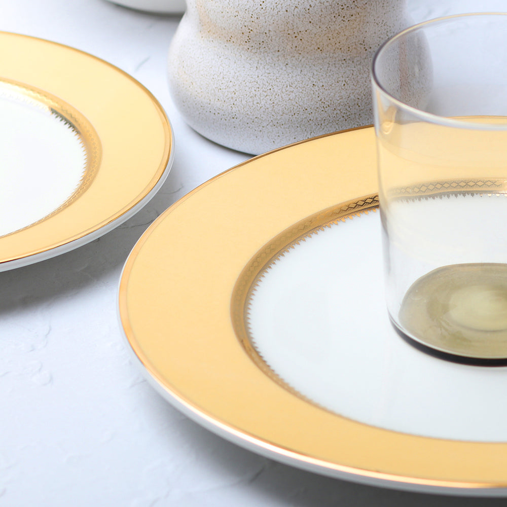Golden Oasis Dinner Plate Set - 4 Pcs