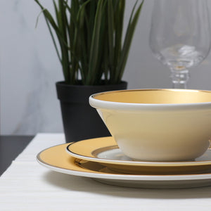 Golden Oasis Dinner Set - 12 Pcs