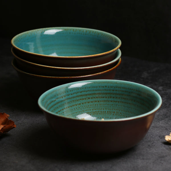 Hand Brushed Bowl Set - 4 Pcs