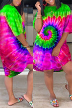 Load image into Gallery viewer, Plus Size Tie Dye Pocket Casual Dress
