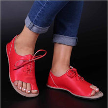 Load image into Gallery viewer, Summer 2020 plus size fish mouth lace up women sandals