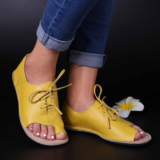 Summer 2020 plus size fish mouth lace up women sandals