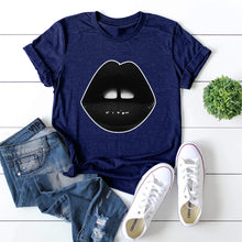 Load image into Gallery viewer, Black lips T-shirt