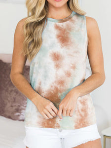 Summer new tie-dye sleeveless vest