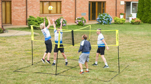 Cross-shaped volleyball game set