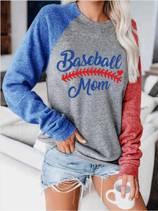★HOT SALE★Baseball Lace One The Side Colorblock Women's Sweatshirt