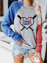 Load image into Gallery viewer, ★HOT SALE★Baseball Lace One The Side Colorblock Women's Sweatshirt