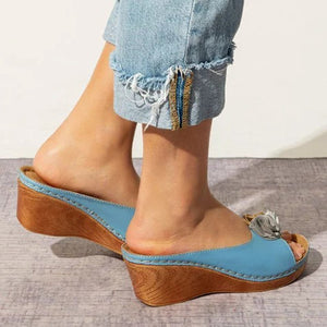 Casual flowers wedge heel size sandals