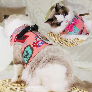 Cat chest back traction rope