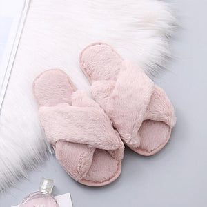 Fashion Fluffy Home Slippers