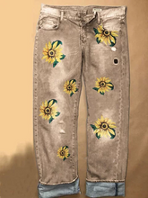 Load image into Gallery viewer, Plus Size Summer Print Casual Jeans