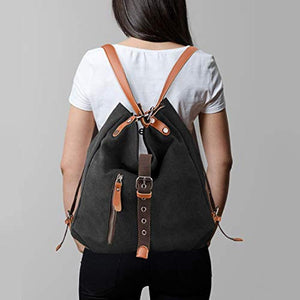 TTF™ Canvas 2 In 1 Backpack-Shoulder Bag with Extra Large Capacity Komize