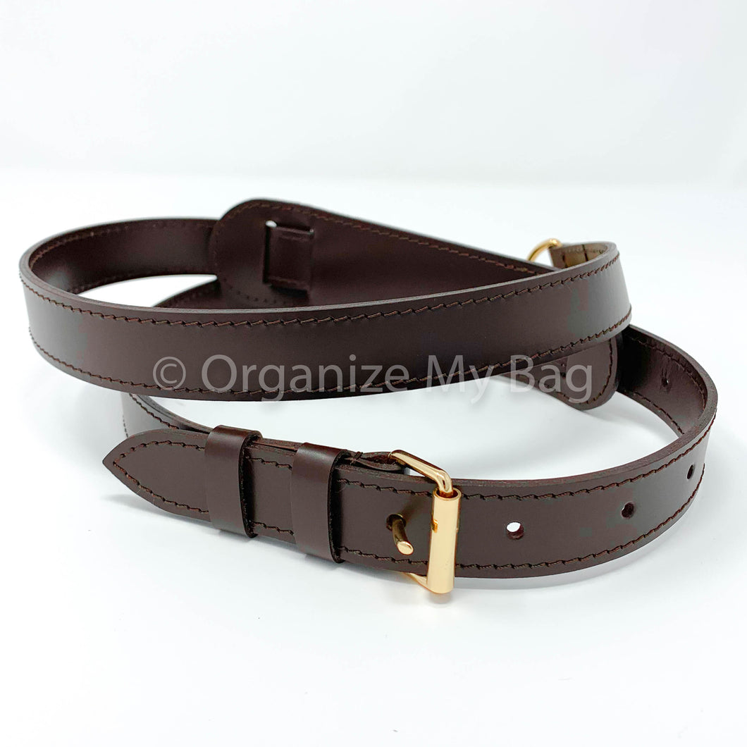 Dark Brown Leather Strap - Adjustable (25mm)