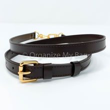 Load image into Gallery viewer, Dark Brown Leather Strap - Adjustable (18mm)