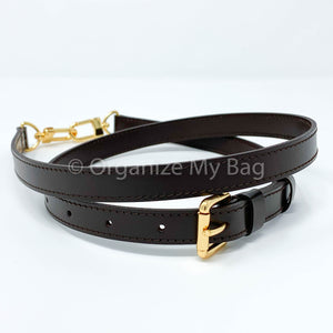Dark Brown Leather Strap - Adjustable (18mm)