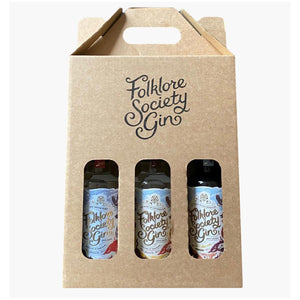 Folklore Society Gin Triple Gift Set