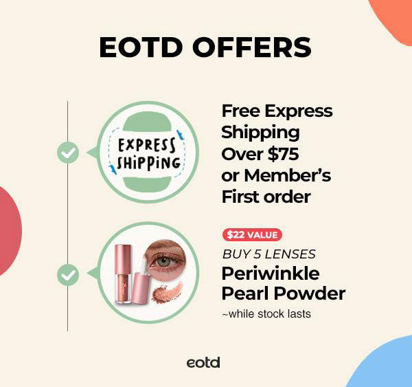 eotd offers free shipping and periwinkle pearl powder
