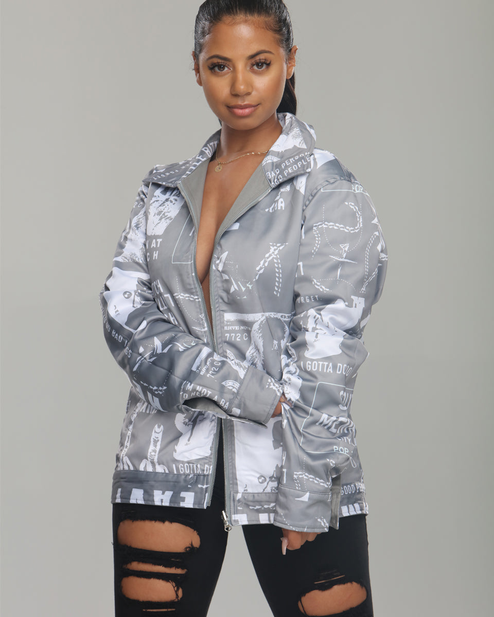 Blac Youngsta Stage Unisex Jackets Grey
