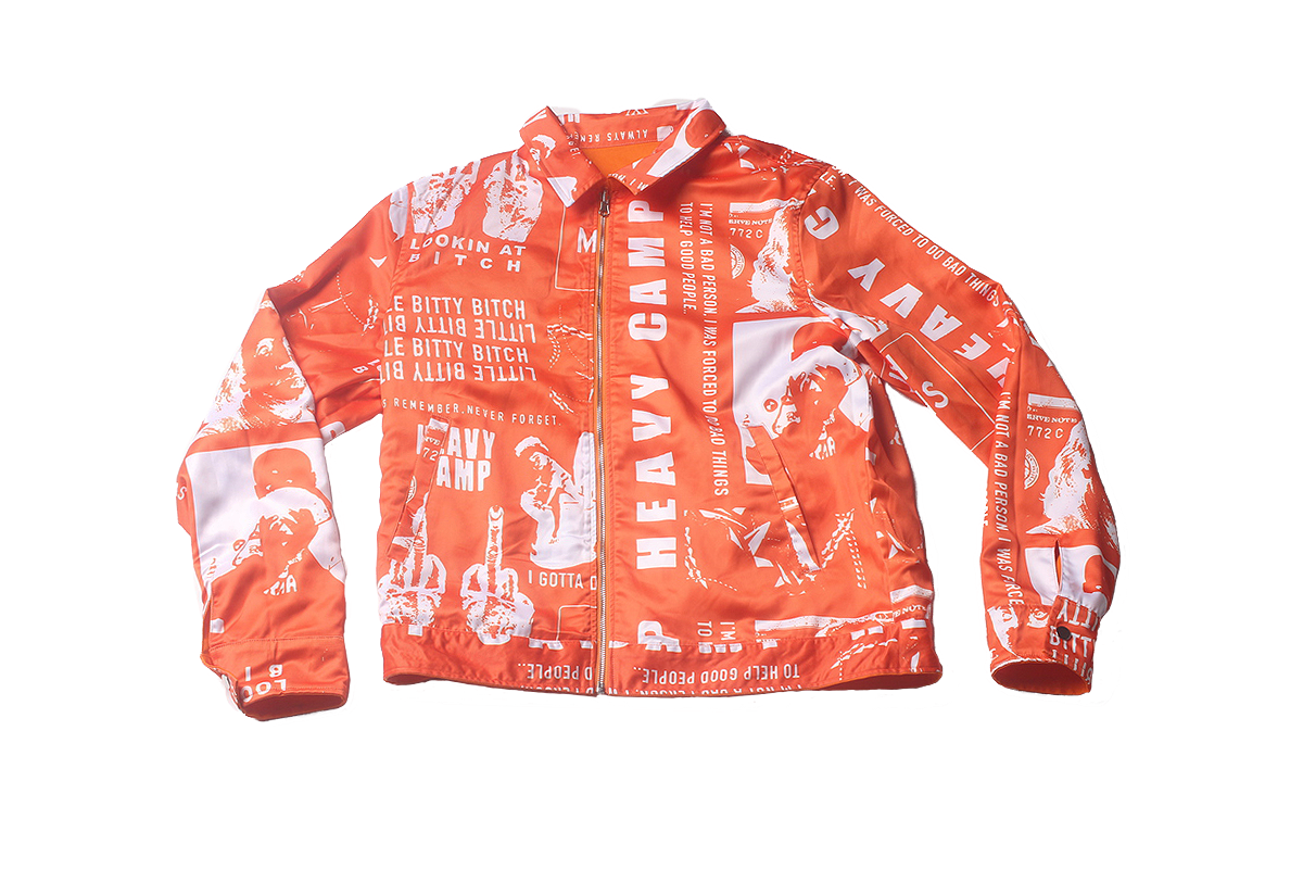 Blac Youngsta Stage Unisex Jacket Orange