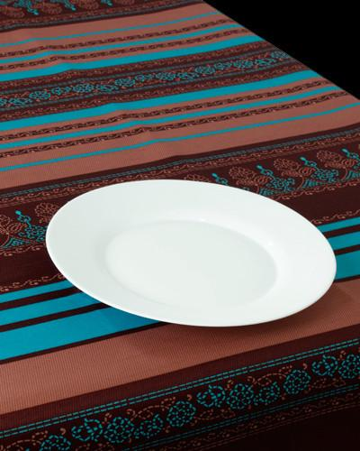 Mantel Brown-Blue Arabesque - Zengarsa