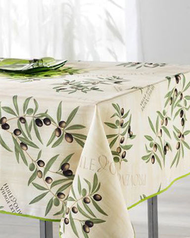 Provence Olive Beige Tablecloth
