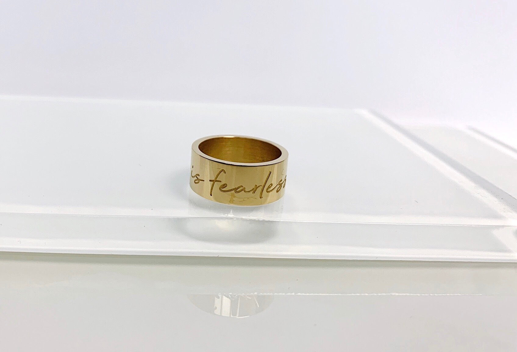 """She is Fearless"" Ring"