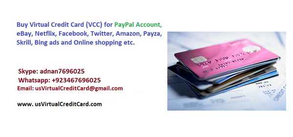 Buy Best US Prepaid Virtual Credit Card (VCC) for Paypal, iTune eBay