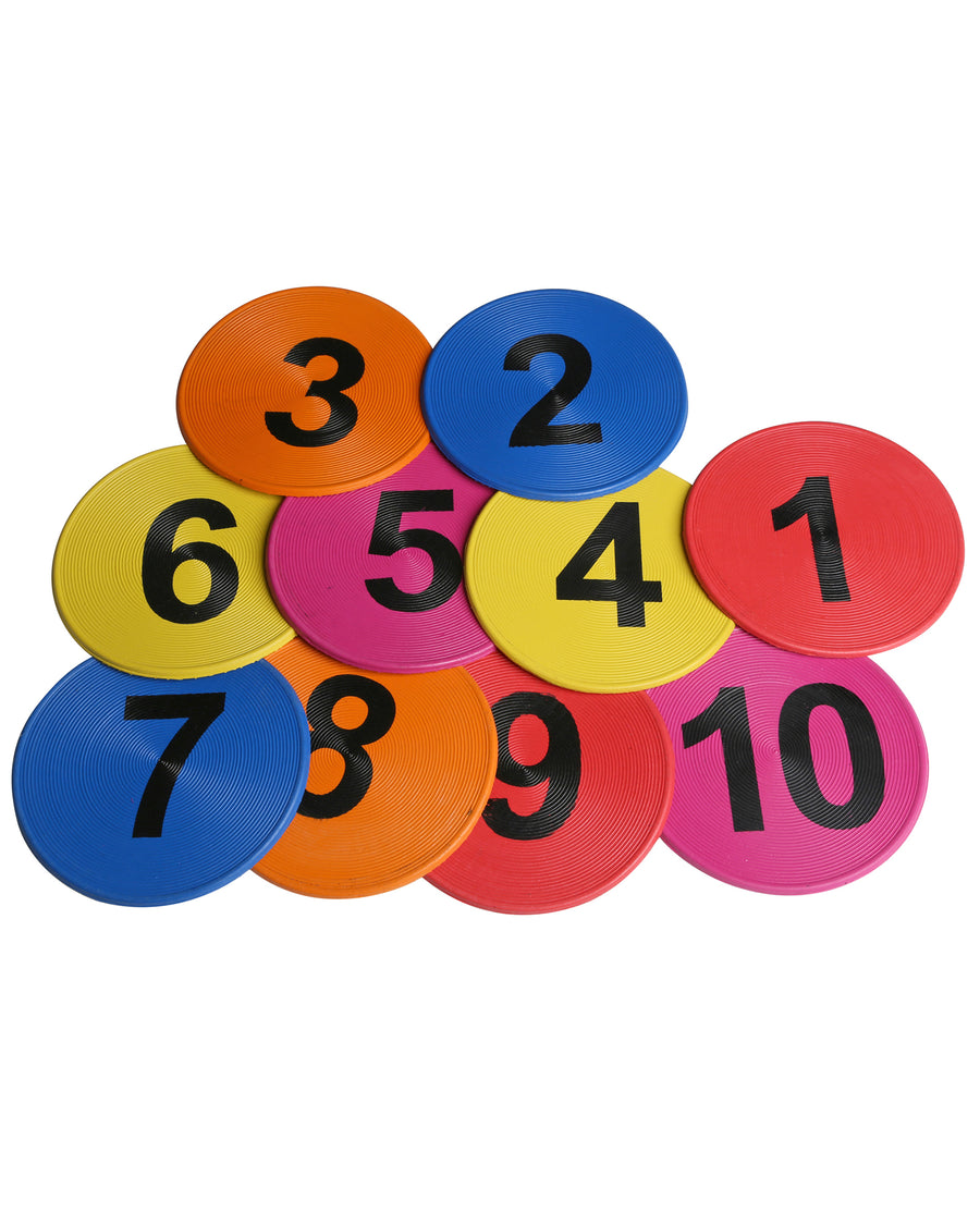 SGS Flat Disc Marker - Numbered 10 Pack